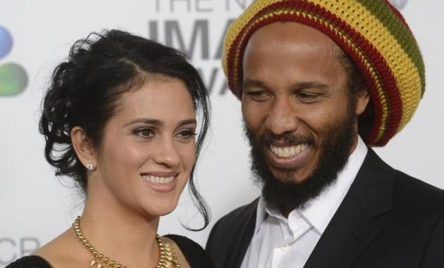 Ziggy Marley and his wife