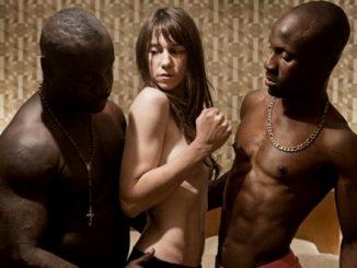 White woman with Black men