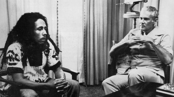 Bob Marley and Michael Manley