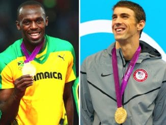 Usain bolt and Michael Phelps