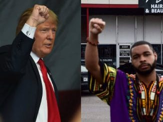 Donald Trump and Micah Johnson