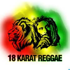 18 Karat Reggae old logo. They were forced by Bob Marley/Hope Road Merchandising to stop using this logo.