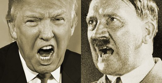 Donald Trump and Adolf Hitler