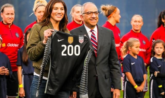 Hope Solo and Carlos Cordeiro