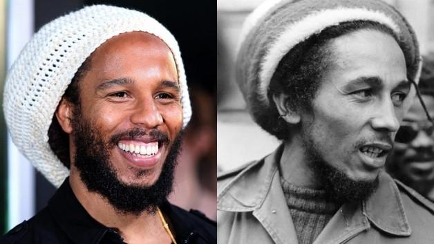 Ziggy Marley and Bob Marley