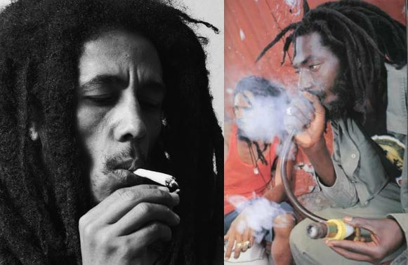 Bob Marley and Buju Banton