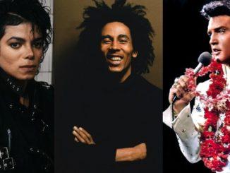 Michael Jackson, Bob Marley, Elvis Presley