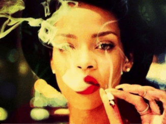 Rihanna smoking marijuana
