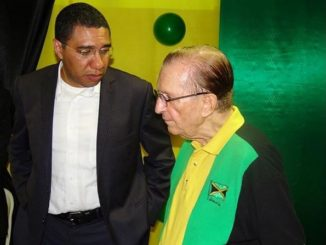 Andrew Holness and Edward Seaga