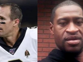 Drew Brees and George Floyd