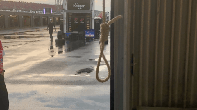 This is noose found in Bubba Wallace's garage