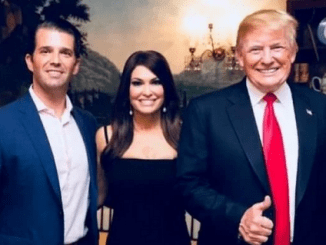 Donald Trump Jr, Kim Guilfoyle and Donald Trump
