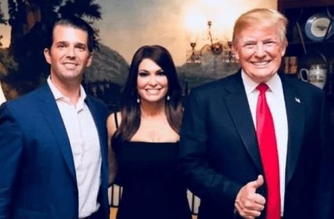 Donald Trump Jr, Kim Guilfoyle and Donald Trump