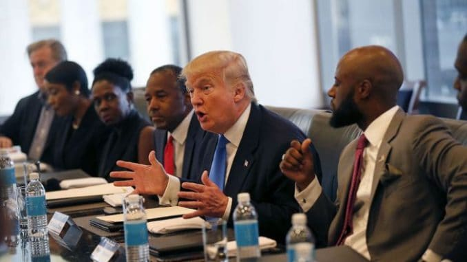 Donald Trump with Black civil rights leaders