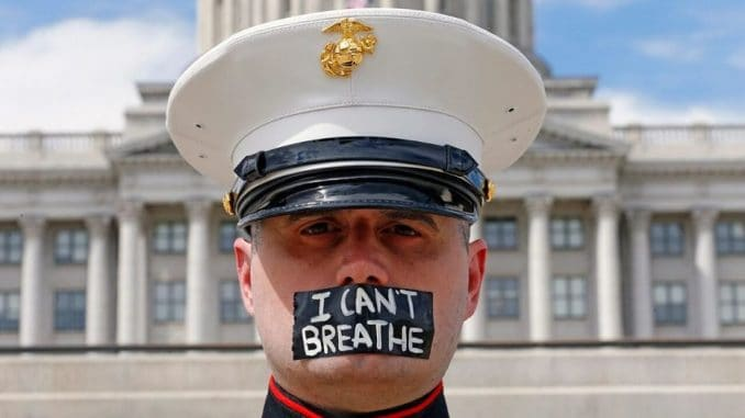 Can't breathe in the United States Marine Corps
