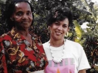 Kamala Harris with her Jamaican grandmother