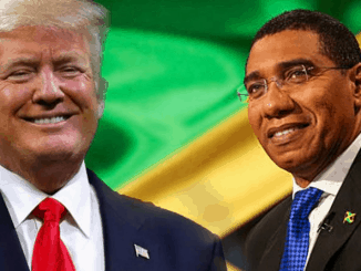 Donald Trump and Andrew Holness