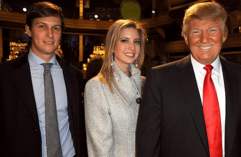 Jared Kushner, Ivanka Trump and Donald Trump