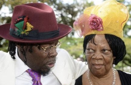 Shabba Ranks and Mama Christy